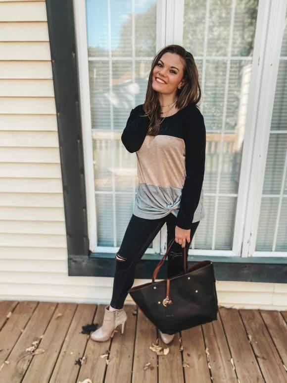 Amazon fashion colorblock sweater