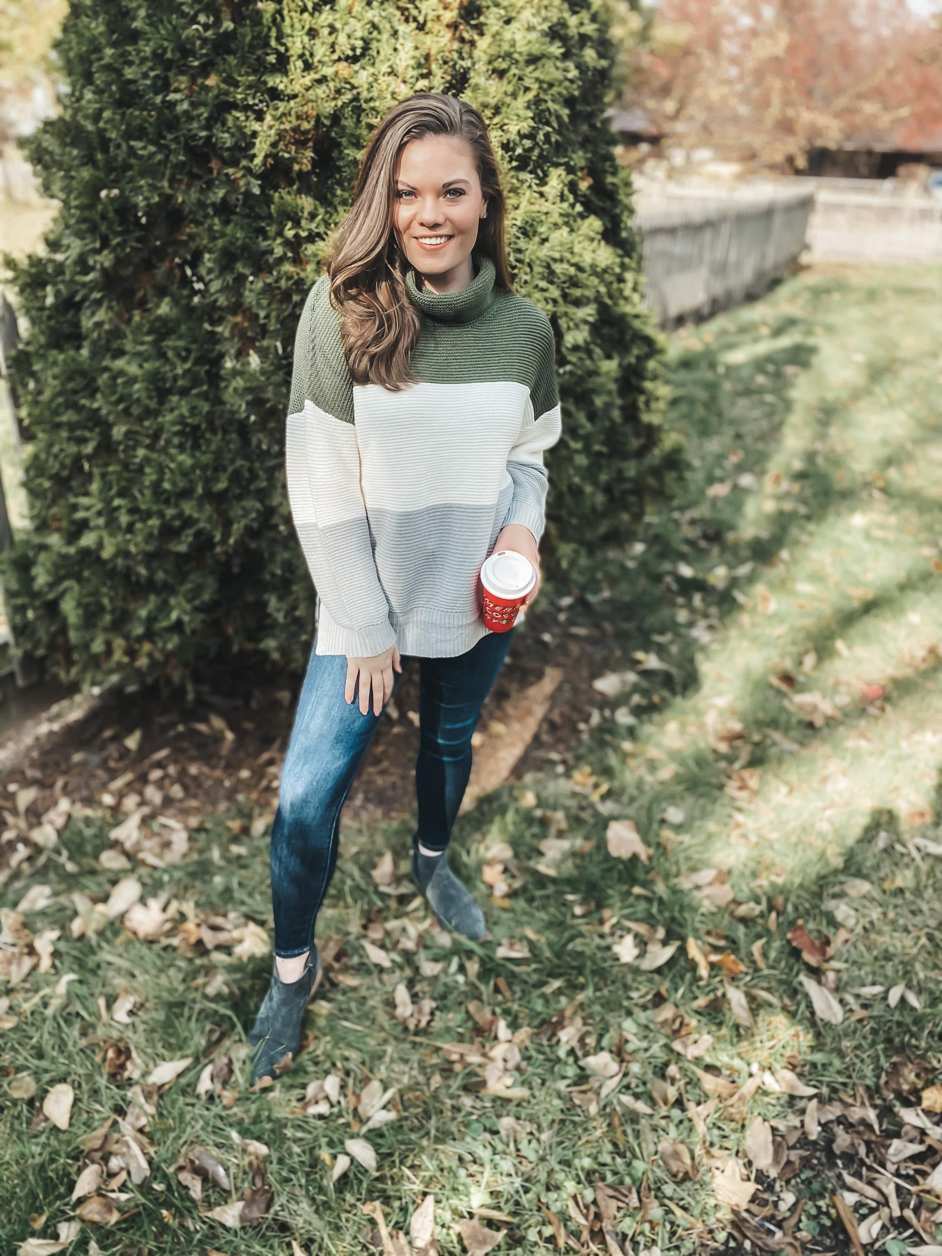 Amazon color block sweater