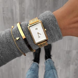 MVMT For Her Charlie Gold White Watch