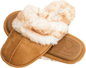 Jessica Simpson Faux Fur Lined Slippers